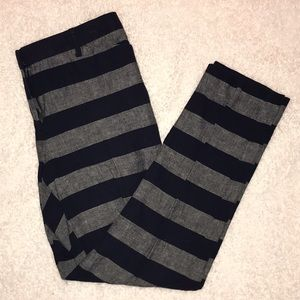 Blue and Gray Striped Dress Pants